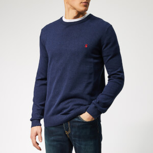 Joules Men's Jarvis Crew Neck Knit - French Navy Marl