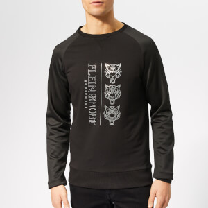 Plein Sport Men's Sweatshirt Long Sleeve Tiger - Black/Silver