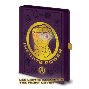 Avengers: Infinity War (Gauntlet LED Lights) A5 Notebook