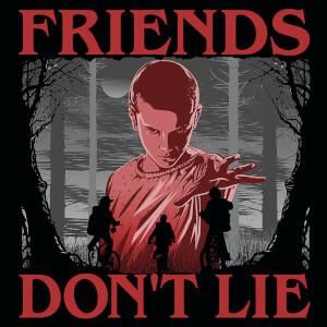 Stranger Things (Friends Don't Lie) 40 x 40cm Canvas Print