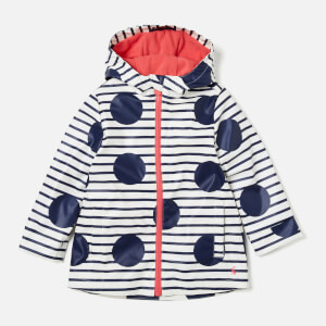Joules Girls' Raindance Waterproof Coat - Blue Spots