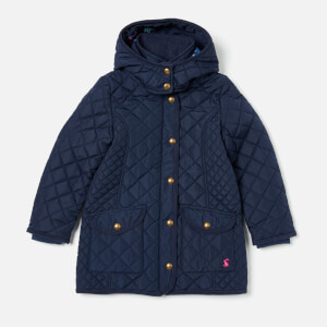 Joules Girl's Newdale Quilted Coat - French Navy