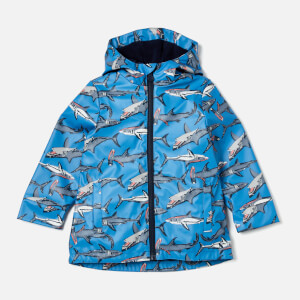 Joules Boys' Skipper Raincoat - Blue Sharks