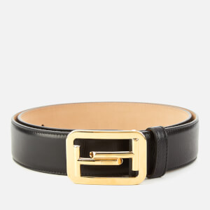 Tod's Men's Double T Leather Buckle Belt - Nero