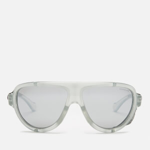 Moncler Men's Shielded Aviator Sunglasses - Grey/ Other/Smoke Mirror