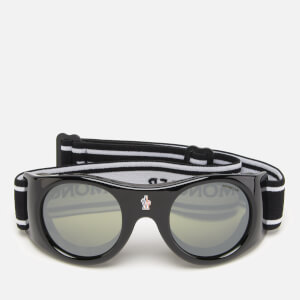 Moncler Men's Elastic Ski Goggles - Shiny Black/Smoke Mirror