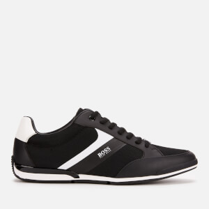BOSS Men's Saturn Mesh Low Profile Trainers - Black
