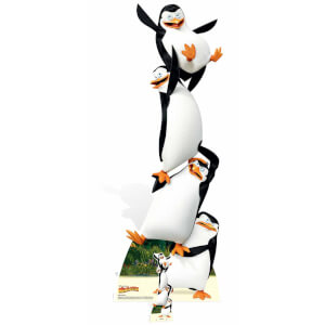 Madagascar - Penguins Topsy Turvy Cardboard Cut Out