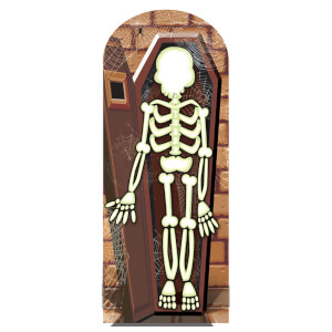 Skeleton Stand In Lifesize Cardboard Cut Out