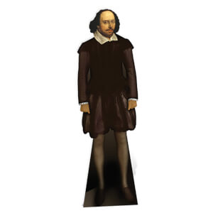 William Shakespeare Lifesize Cardboard Cut Out