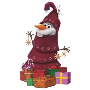 Olaf's Frozen Adventure - Christmas Olaf Lifesize Cardboard Cut Out