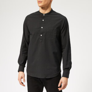 Officine Générale Men's Auguste Seersucker Shirt - Black
