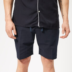 Officine Générale Men's Phil Seersucker Shorts - Navy