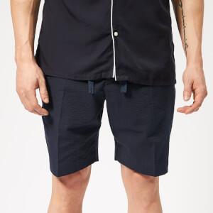 Officine Générale Men's Phil Seersucker Shorts - Navy