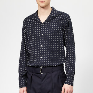 Officine Générale Men's Dario 10 Dots Shirt - Navy/White
