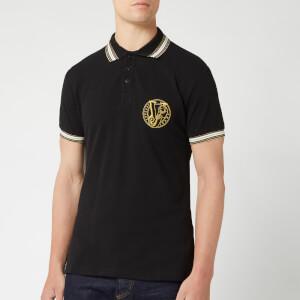 Versace Jeans Men's Contrast Collar Polo Shirt - Black