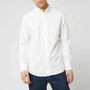 BOSS Men's Mabsoot Long Sleeved Shirt - White