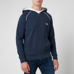 BOSS Men's Zipped Hooded Top - Navy