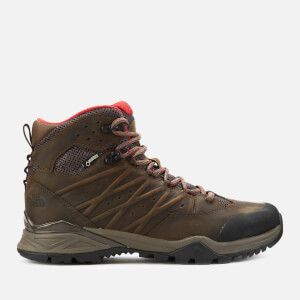 The North Face Men's Hedgehog Hike 2 Mid Goretex Trainers - Bone Brown/Rage Red