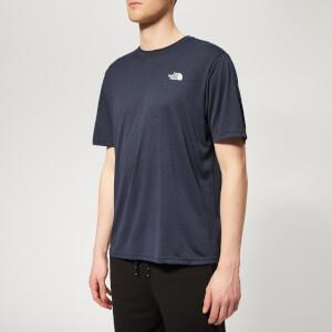 The North Face Men's Train N Logo Hybrid Short Sleeve T-Shirt - Urban Navy Heather