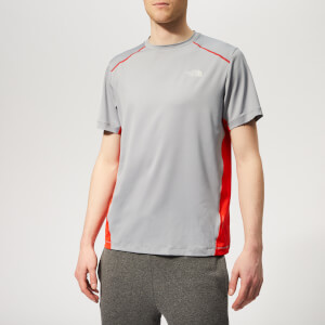 The North Face Men's Apex Short Sleeve T-Shirt - Mid Grey/Fiery Red