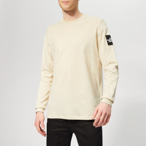 The North Face Men's Fine 2 Long Sleeve T-Shirt - Vintage White