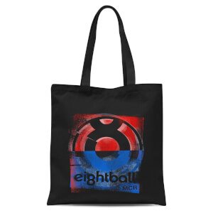 Ei8htball Messy Stencil Logo Tote Bag - Black
