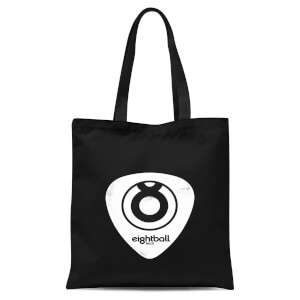 Ei8htball White Plectrum Logo Tote Bag - Black