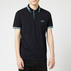 BOSS Men's Paul Curved Polo Shirt - Black