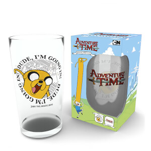 Adventure Time Finn and Jake Pint Glass