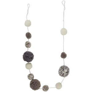 Sass & Belle Pompom Garland Grey