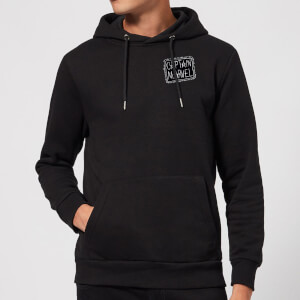 Captain Marvel Name Badge hoodie - Zwart