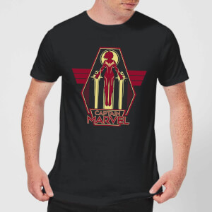 Captain Marvel Flying Warrior Men's T-Shirt - Black