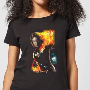 Captain Marvel Galactic Shine Women's T-Shirt - Black