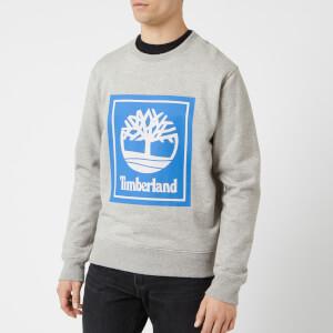 Timberland Men's Stack Logo Sweatshirt - Medium Grey Heather
