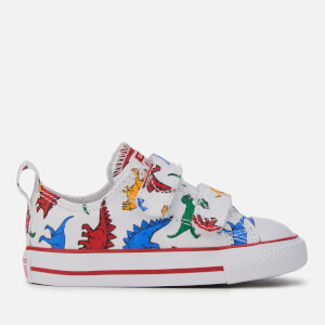Converse Kids' Chuck Taylor All Star 2 Velcro Trainers - White/Enamel Red/Totally Blue