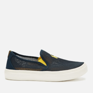 Polo Ralph Lauren Kids' Wayson Mesh Slip-On Pumps - Navy/Yellow PP