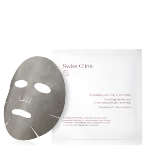 Swiss Clinic Detoxifying Grey Clay Sheet Mask 34g