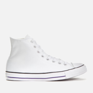 Converse Men's Chuck Taylor All Star Hi-Top Trainers - White/Court Purple/White