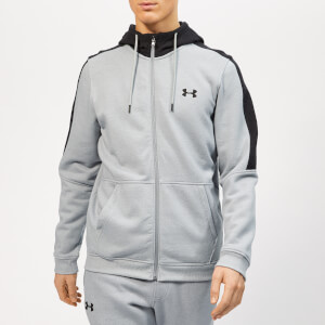 Under Armour Men's Microthread Full Zip Fleece Hoodie - Steel Light Heather