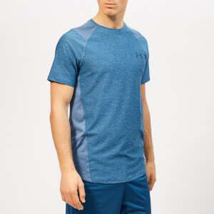 Under Armour Men's Mk1 Shorts Sleeve T-Shirt - Thunder/Petrol Blue