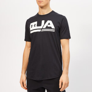 Under Armour Men's Sportstyle Short Sleeve Drop Hem T-Shirt - Black