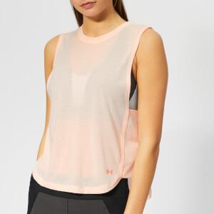Under Armour Women's Whisper Light Muscle Tank Top - Orange Dream