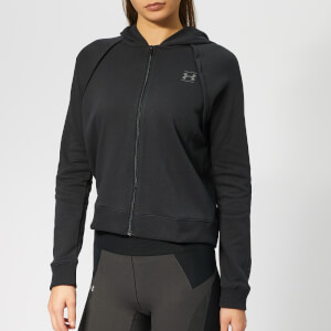 Under Armour Women's Rival Full Zip Fleece Hoodie - Black