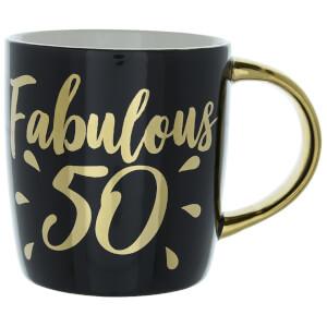 Candlelight Fabulous 50 Birthday Mug in Gift Box