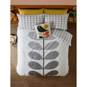 Orla Kiely Placement Scribble Stem Quilt Cover - Grey