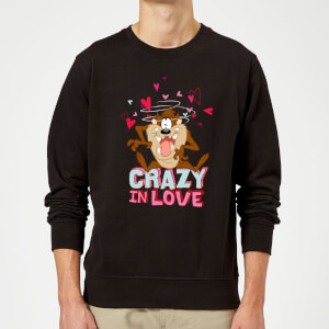 Looney Tunes Crazy In Love Taz Sweatshirt - Black