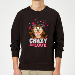 Looney Tunes Crazy In Love Taz Sweatshirt - Black