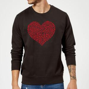 Felpa Super Mario Items Heart - Nero