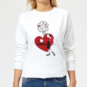 Popeye I Love Popeye Women's Sweatshirt - White